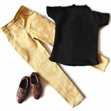 Barbie doll Fashion clothes set black T-shirt and pans for KEN doll