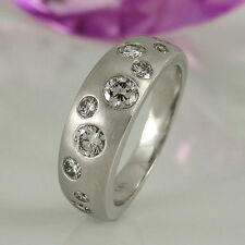 Markenlose Bandring-Stil aus Weißgold mit Diamanten-Ringe