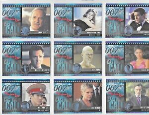 JAMES BOND  DIE ANOTHER DAY CASTING CALL CARDS C1 TO C12  CHOOSE BY RITTENHOUSE