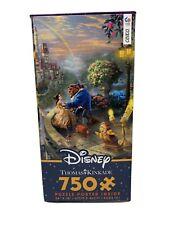 Disney Thomas Kinkade Beauty & Beast Falling In Love 750 Piece Puzzle NEW