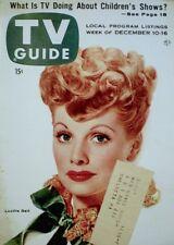 TV Guide 1955 Lucille Ball Desi Arnaz I Love Lucy #141 Magazine Photo VTG VG/EX
