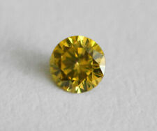 Diamond Round Cut Fancy Yellow Natural Loose Diamond SI2 1.3-1.4 mm