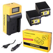 2x Batteria Patona + caricabatteria Synchron LCD USB per Canon Legria HF G25