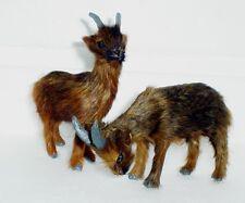 Braune Ziege Felltier Krippenfigur Felltiere  Krippentier aus Naturhaar