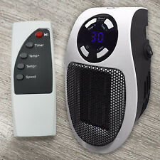 500W Mini Portable Plug-in Heater Electric Wall Space Heating Fan Personal