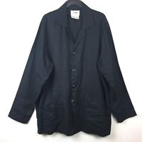 FLAX Jeanne Engelhart Button Down Shirt Lagenlook Boxy Linen Oversized Women's M