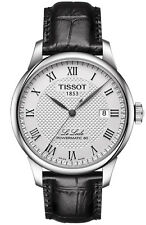 T0064071603300 Tissot Le Locle Mens Automatic Watch Silver dial Black Leather