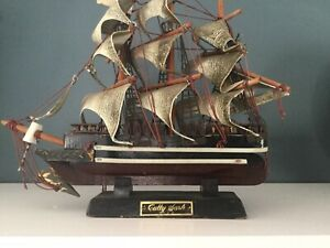 Wooden Model Ship Cutty Sark CLIPPER  & CANVAS MODEL