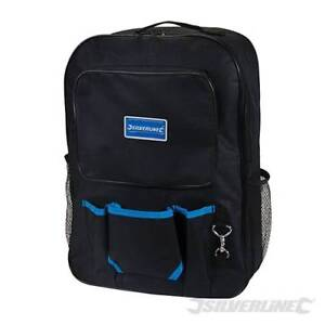 Traditional Tool Back Pack Bag Tear and stain-resistant ballistic nylon Black