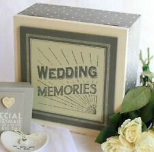EAST OF INDIA ~ WEDDING MEMORIES ~ Large Wooden Keepsake Box
