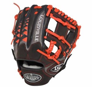 "NOS Louisville Slugger HD9 11.25"" Infield RHT Baseball Glove - Black/Red - RARE"