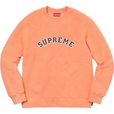 Supreme 17F/W Polartec Deep Pile Crewneck Peach Size XL 1000% Authentic in Hand