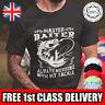 MASTER BAITER Fishing T-Shirt Mens Funny Slogan Graphic Tee TShirt Present Gift