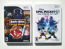 Angry Birds Star Wars  + Disney Epic Mickey 2 Wii games  NEW    A2