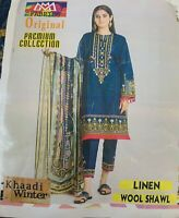 Haddi Pakistani Lilen Stiched Suit Only XL & XXL Size 2020  Eid Collection