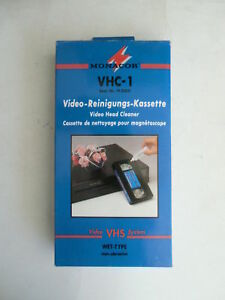 Video Head Cleaner (wet type) for VHS VCRs, made by Monacor - Model VHC-1