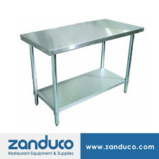 "Zanduco Stainless Steel 30"" X 60"" Standard Worktable NSF"