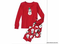 New Gymboree Snowman Two Piece Pajamas Sleepwear Gymmies Size 2T