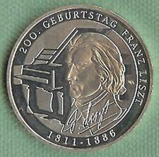 Bund  10 Euro 2011 Franz Liszt m Münzkaspeln Silbermünze  (G)