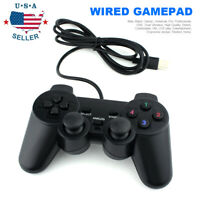 Black USB Wired Gamepad Game Pad Controller Joystick Fit for PC Laptop Windows