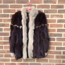 Vintage Real Fox Fur Jacket Coat Plush Deep Fur High End Quality Rare M 12 Chic
