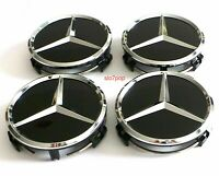 4 x 60mm Mercedes Benz Schwarz Nabendeckel Nabenkappen Felgendeckel Wheel Cap
