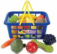 Casdon LITTLE SHOPPER FRUIT & VEGETABLE BASKET Play Food Toddler/Kids Toy BN