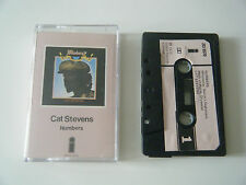 CAT STEVENS NUMBERS CASSETTE TAPE 1975 PINK PAPER LABEL ISLAND UK