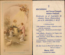 OLD THIRD COMPLIANCE EASTER REMEMBRANCE HOLY CARD . YEAR 1957 .SEE MY SHOP CC425