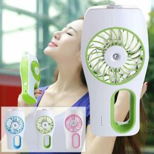 USB Mini Handheld Humidifier Mist Water Spray Air Conditioning Fan for Travel WT