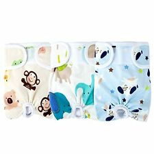 JEUWITH Washable Female Dog Diapers3 Pack Reusable Belly Band for Female Dogs...