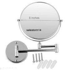 """8"""" 7x Magnification Wall Mounted Double Side Bathroom Makeup Shaving Mirror AU"""