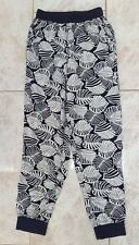Atmosphere Ladies Size 8 Blue Beige Print Jersey Slouch Pant Trouser Winter Wear