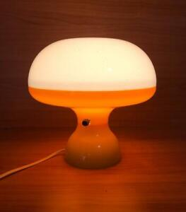 Vintage Orange Decor MOD Lamp Retro Mid Century Plastic Light ATOMIC 1970s