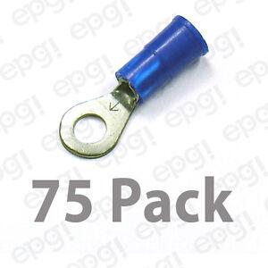 3M RING TERMINAL VINYL #8 BLUE 16-14 GAUGE #3M107A-75PK