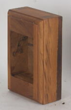TEAK WOOD Electric wall outlet & switch BOX SINGLE 1 receptacle NEW handmade one