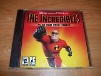 Disney The Incredibles PC CD ROM Software Print Studio Windows 95/Me/XP NEW