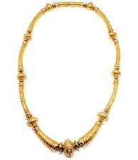 GORGEOUS! AUTHENTIC SEIDEN GANG 18K YELLOW PEACH GOLD DIAMOND LAUREL NECKLACE