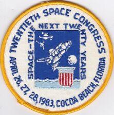 NASA ORIGINAL 20TH SPACE CONGRESS, COCOA BEACH, FLORIDA PATCH