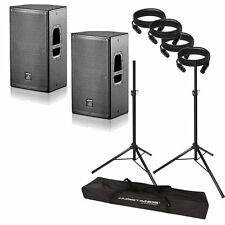"D.A.S.DAS Action 12A 12"" Powered DJ PA Loud-Speaker PAIR SW Stands 10' Cables"