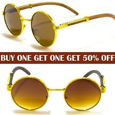 Mens Women Designer Retro John Lennon Round Oval Shades Sunglasses Hippie Unisex