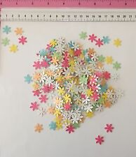 200 x 6 Petal Flowers - Shimmer Pastel Coloured Punchies Cardmaking Celebration