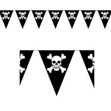 12ft Beware of the Pirate Jolly Roger Party Pennant Flag Banner Decoration