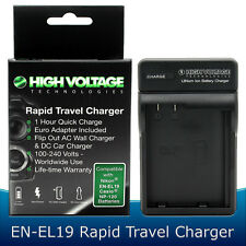 Charger for Nikon EN-EL19 Battery S32 S3100 S3300 S3500 S4300 S6500 EH-70P