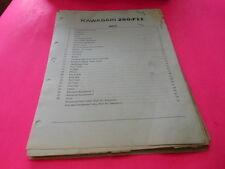 OEM FACTORY KAWASAKI 1973 F11 PARTS CATALOG MANUAL 78 PAGES