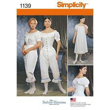 Simplicity Sewing Pattern 1139 Misses Civil War Undergarment Historical RR 14-20