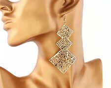 UK Venditore placcato oro maglie quadrate Orecchini ipoallergenico / NICHEL FREE