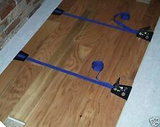 TWO *STRAP CLAMPS*WOOD FLOOR*HARDWOOD FLOORING*TIMBER*DECK*BOARD*PLANKS