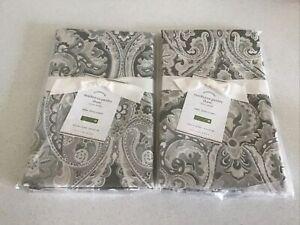 2 Pottery Barn MacKenna Paisley EURO Shams /GRAY New/tags