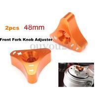 Orange 48mm CNC Front Fork Knob Adjuster For KTM 125 250 350 450 525 530